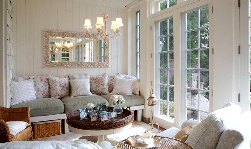Вариант оформления гостиной в стиле прованс