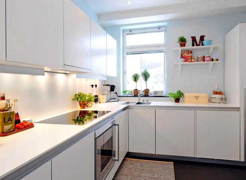 Фото дизайна кухни в белом цвете