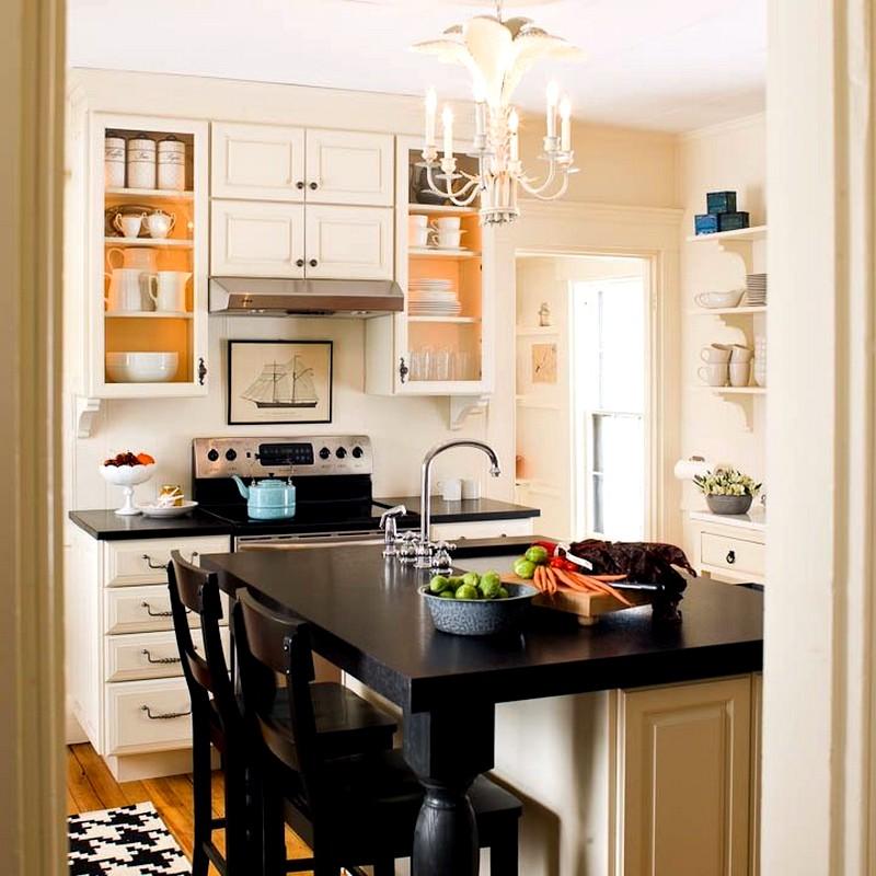 Идея дизайна для небольшой кухни