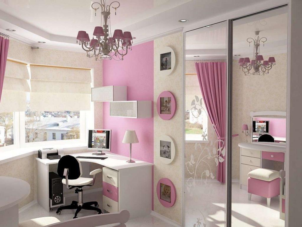 Классический розовый цвет в дизайне комнаты для девочки