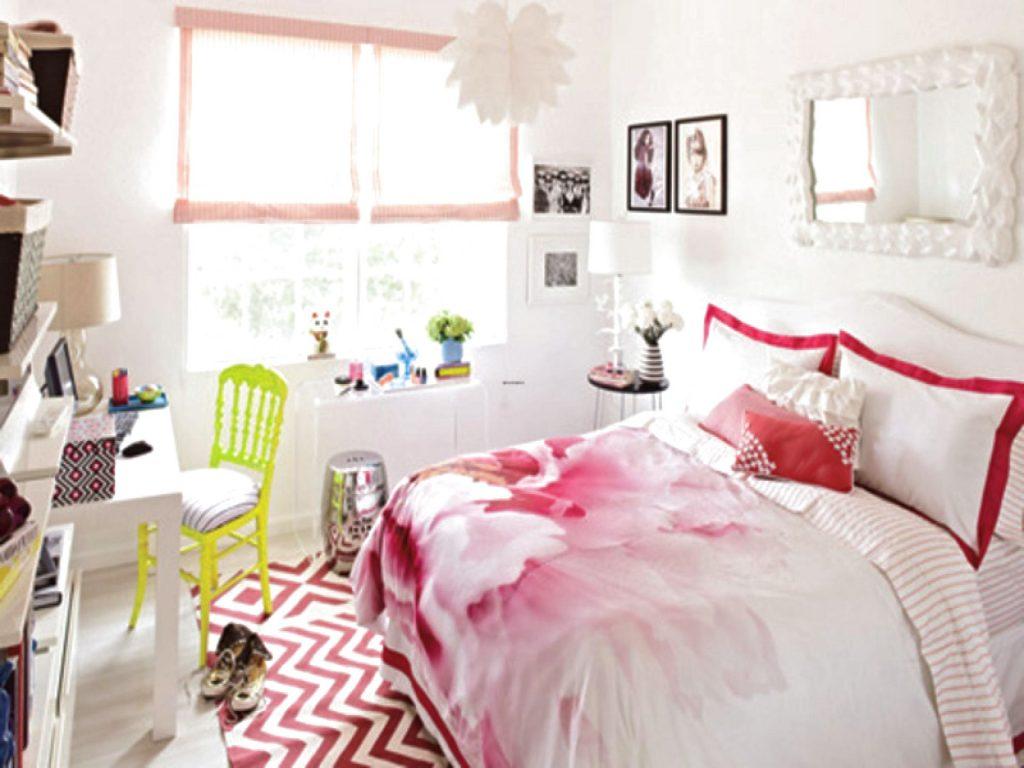 Комната в розовых тонах для девочки
