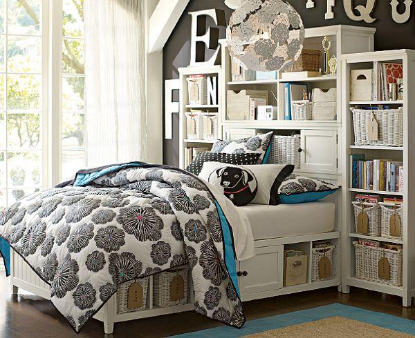 Красивый дизайн спальни для девочек 12 лет