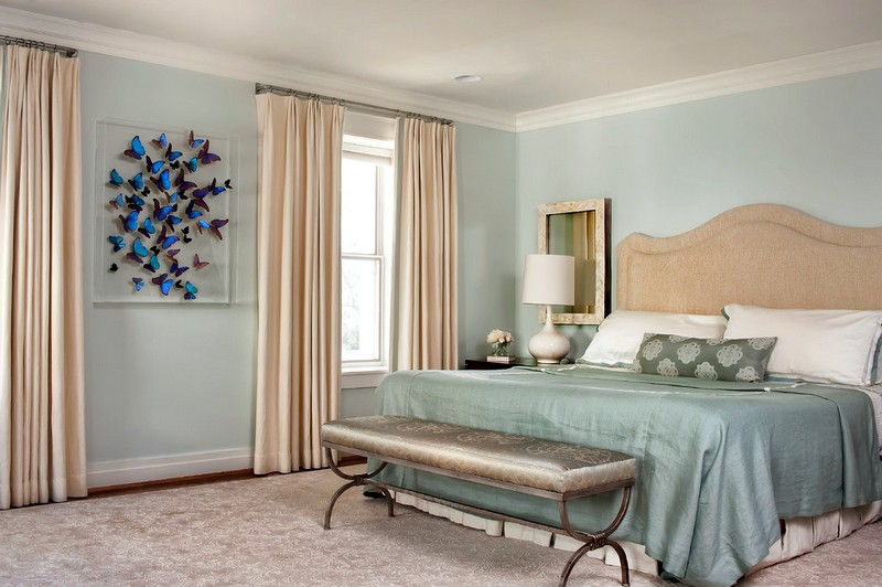 Прекрасное оформление интерьера спальни