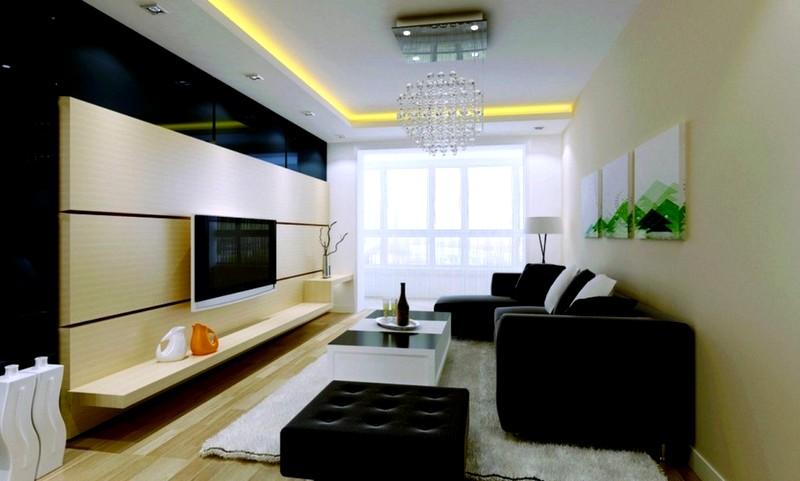 Прекрасное решение для дизайна гостиной