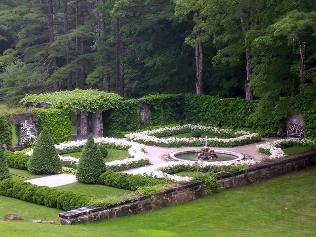 Сад с Белоснежной Астильбой
