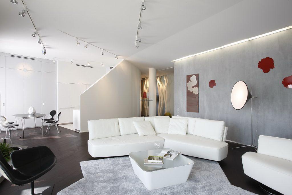 Стиль лофт в интерьере с бетонными стенами