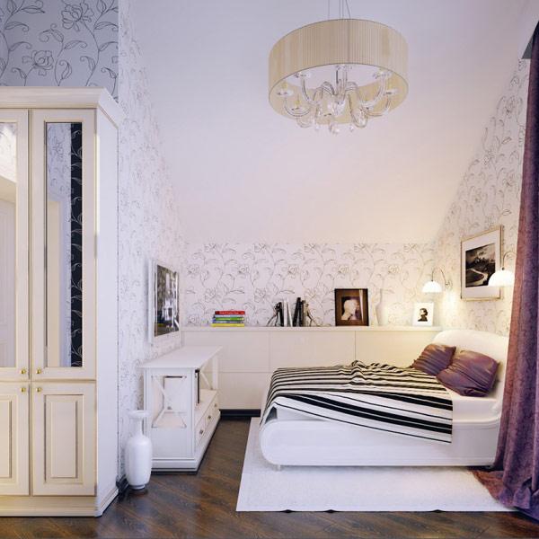 Уютная спальня для девочки в светлых тонах