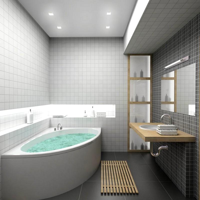 Шикарная угловая ванная