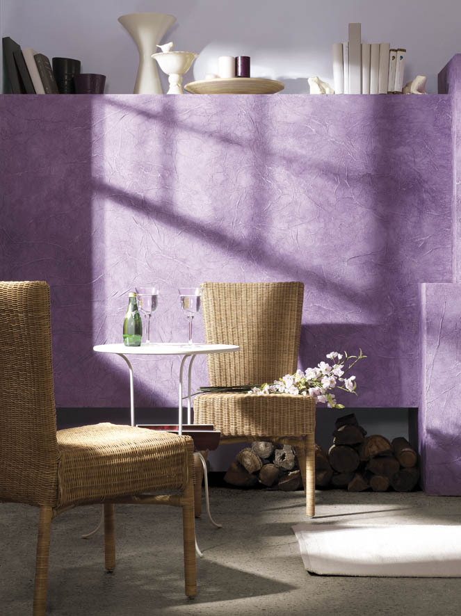 Штукатурка фиолетовых цветов в стеле прованс