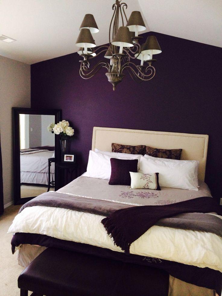 уютная спальня лавандового цвета в стиле прованс