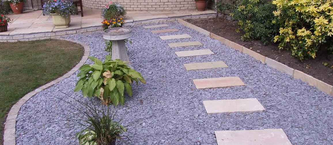 Декоративное оформление садовой дорожки