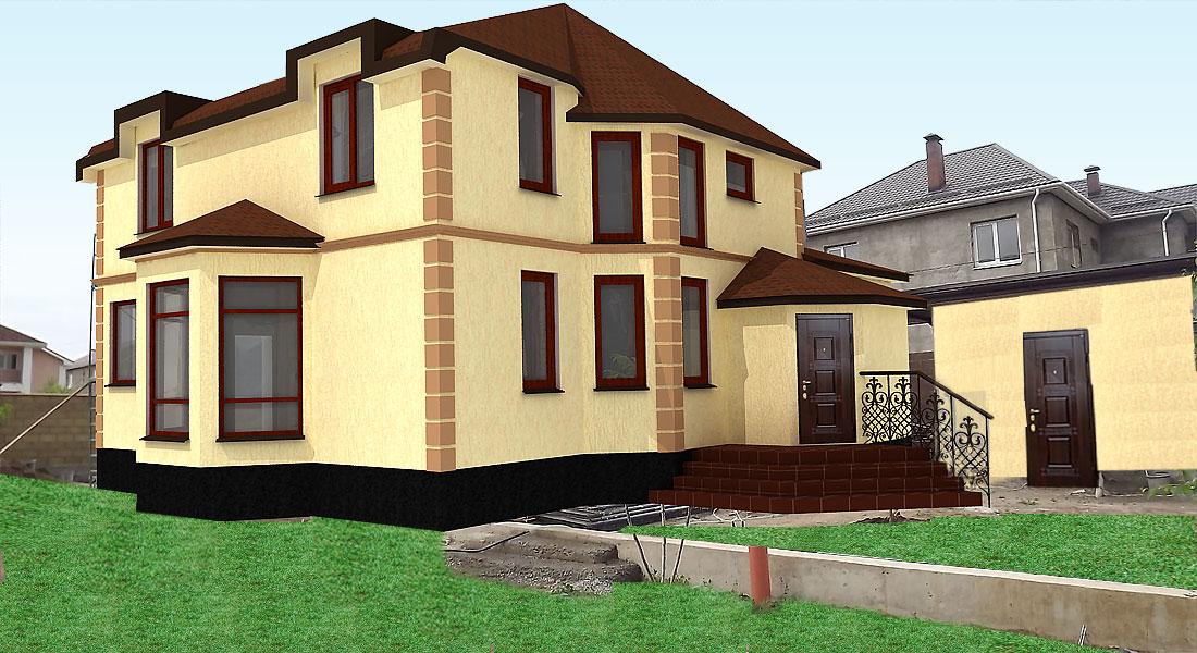 Существует множество конструктивных исполнений фасадной отделки