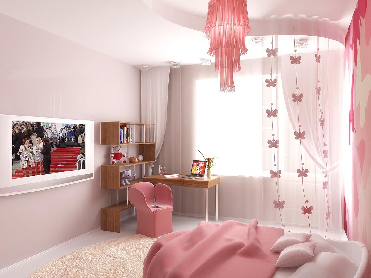 Нежная атмосфера в комнате для девочки-подростка