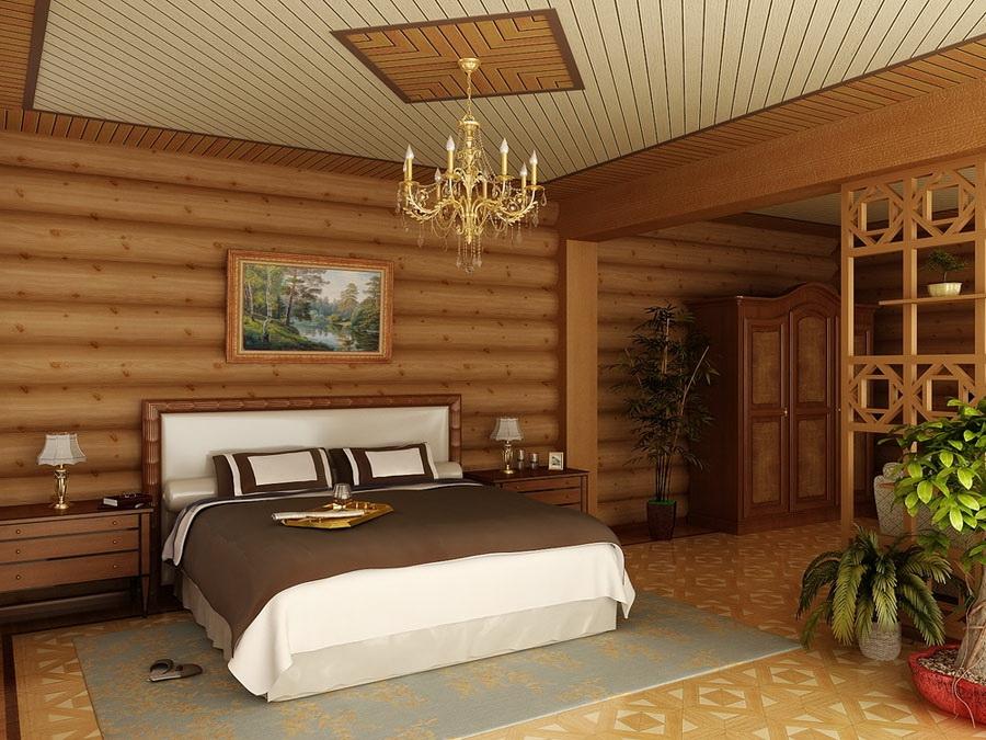 Проведение внутренней отделки деревянного дома: варианты, фото