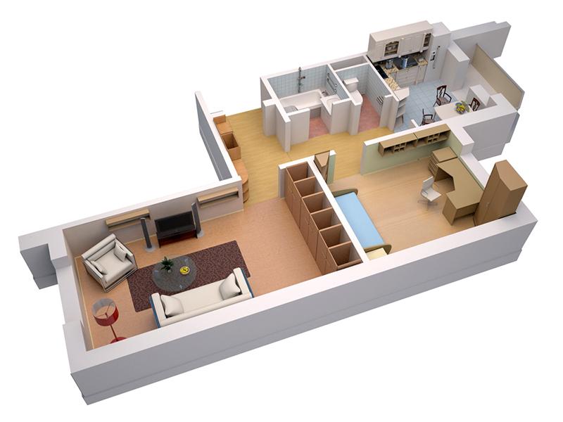 Планировка двухкомнатной квартиры в хрущевке