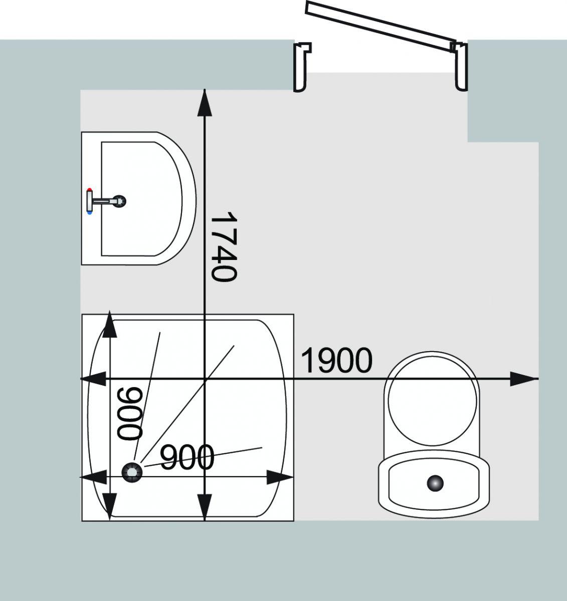 Проект планировки небольшой ванной комнаты