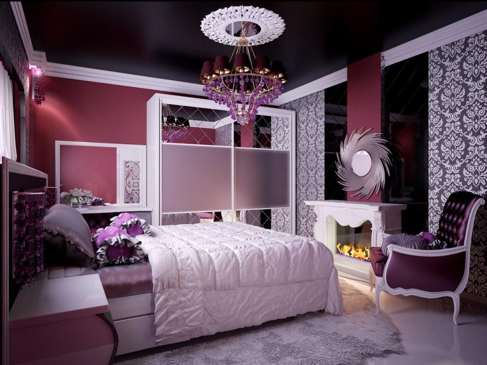 Романтический дизайн комнаты для девочки