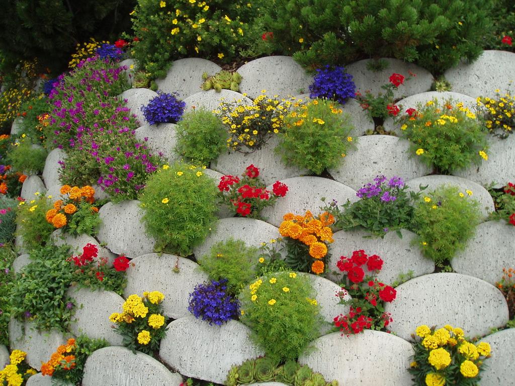 Между камнями оставляют пространство для цветов