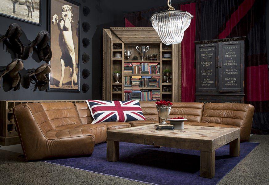 Отличительные черты английского стиля в интерьере гостиной комнаты