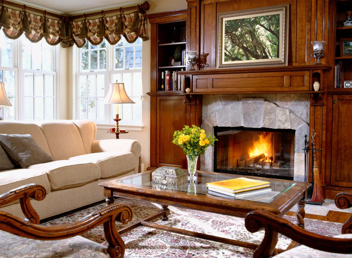 Использование простой мебели в интерьере квартиры в английском стиле