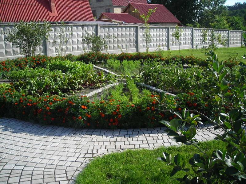 Клумбовый огород в ландшафтном дизайне