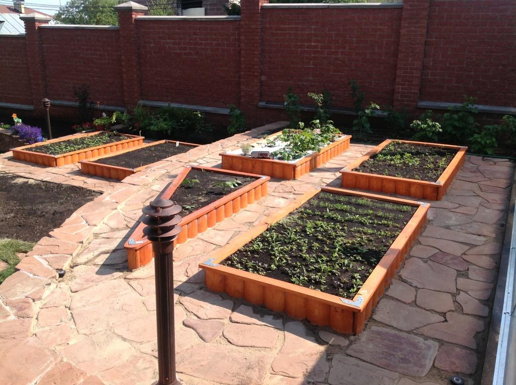 Модульный огород в ландшафтном дизайне