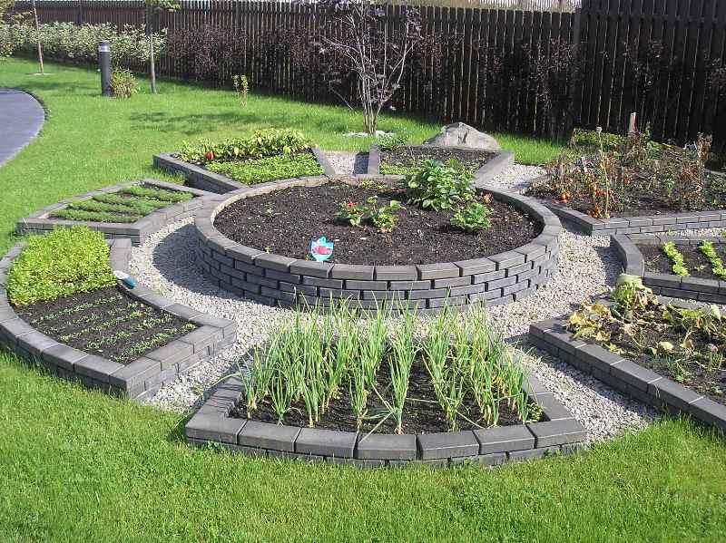 Украшение дачного участка уникальным огородом