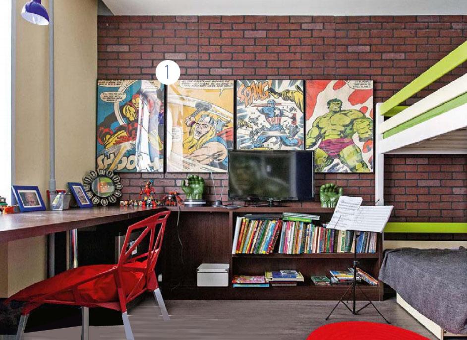 Дизайн детской комнаты для мальчиков с супер героями