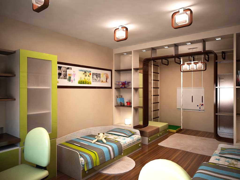 Уютный интерьер детской комнаты для мальчика