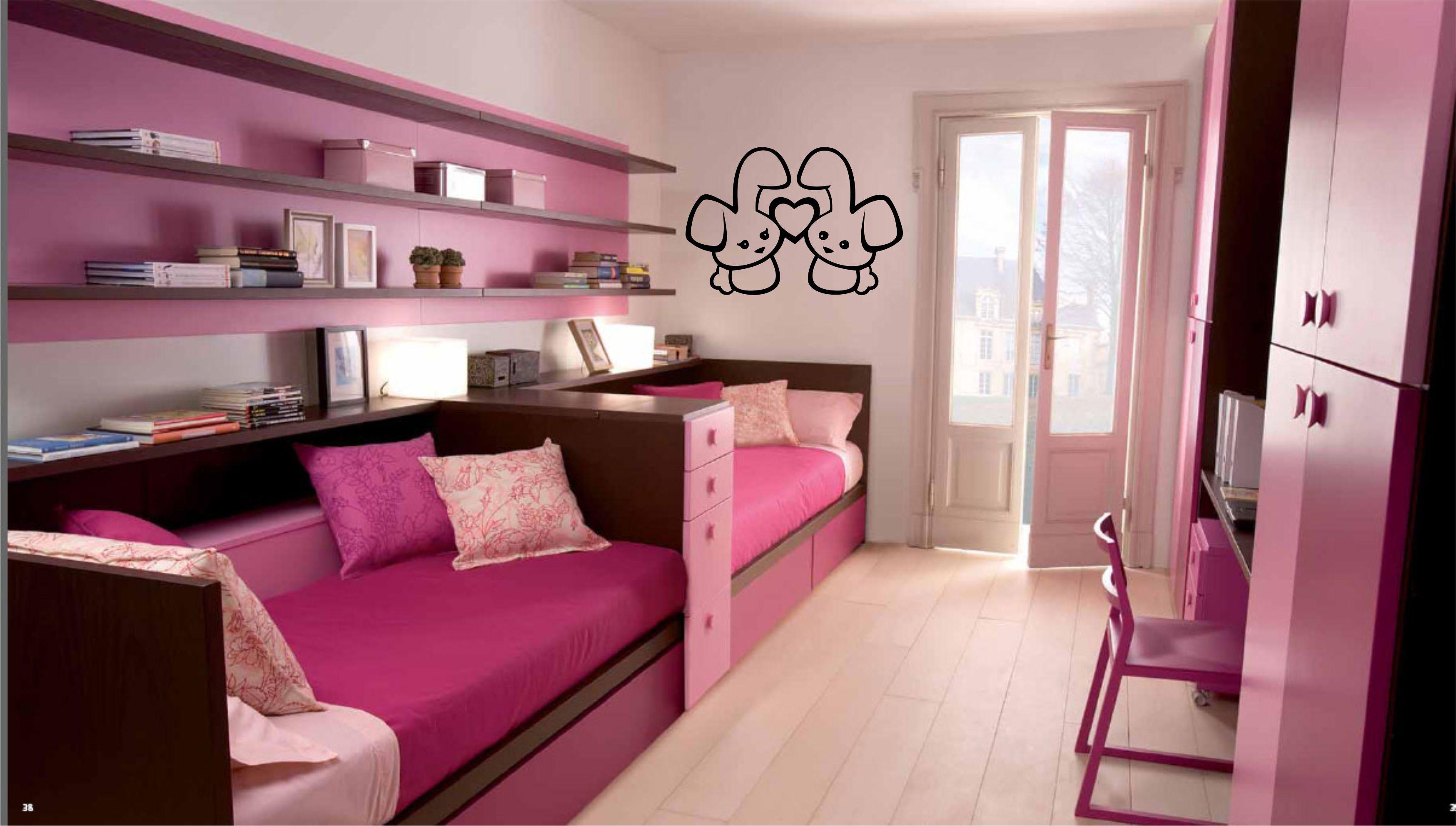 Гармоничная обстановка в детской комнате для девочек