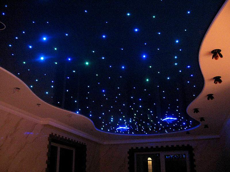 Потолок в виде космоса со звездами