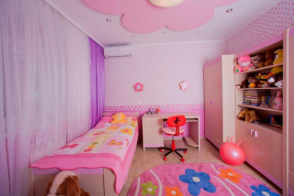 Современный дизайн детской комнаты для девочки