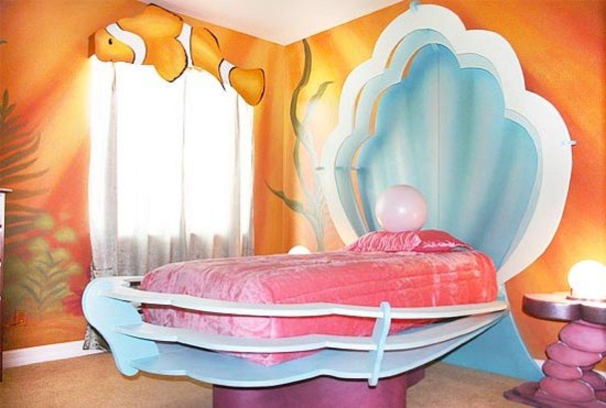 Дизайн детской комнаты для девочки в морском стиле
