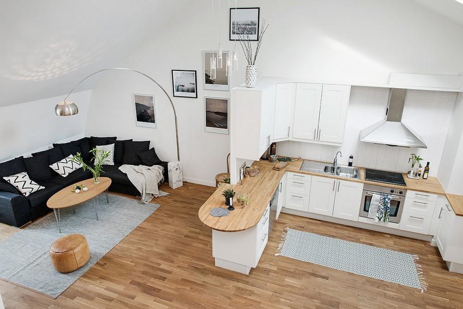 Барная стойка в интерьере маленькой квартиры
