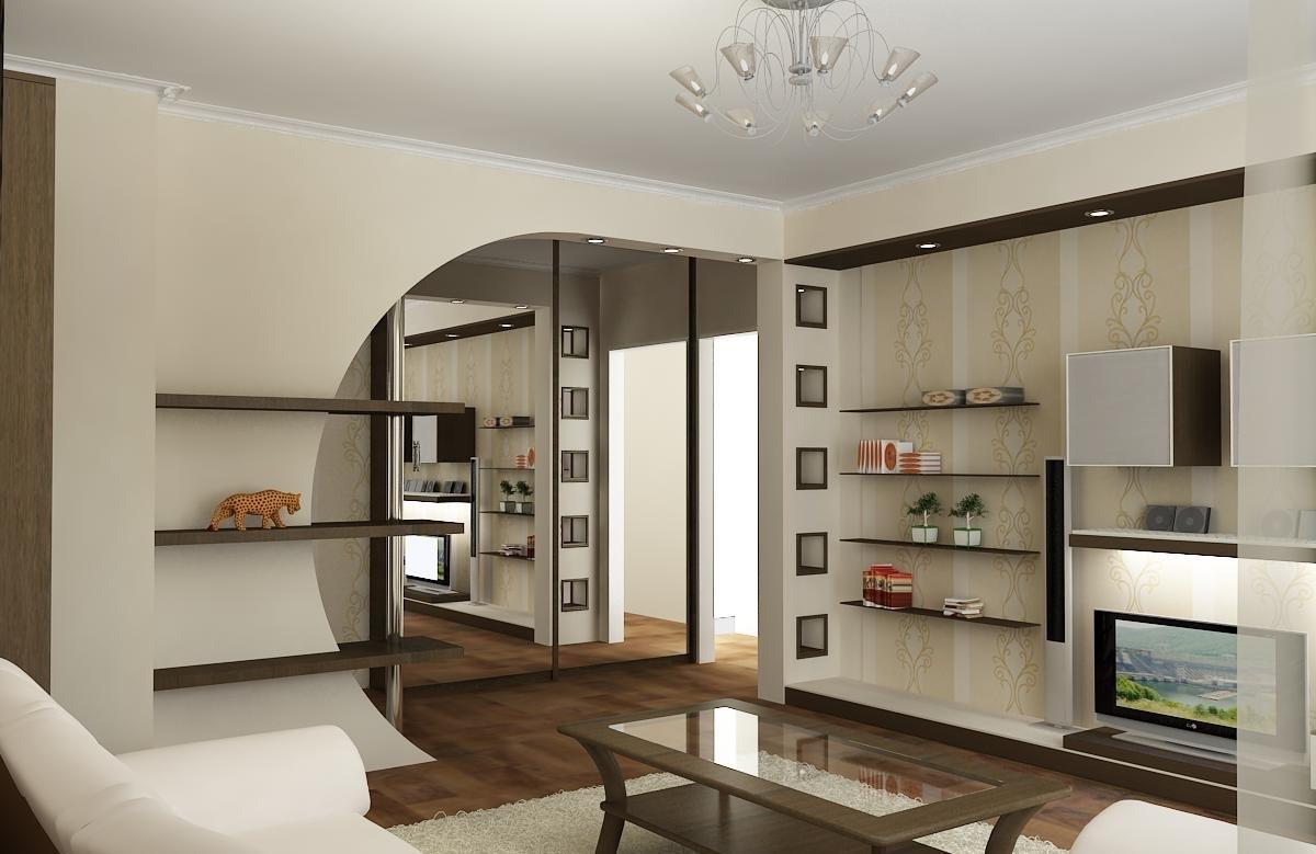 Большие дверные проемы для увеличения пространства в квартире