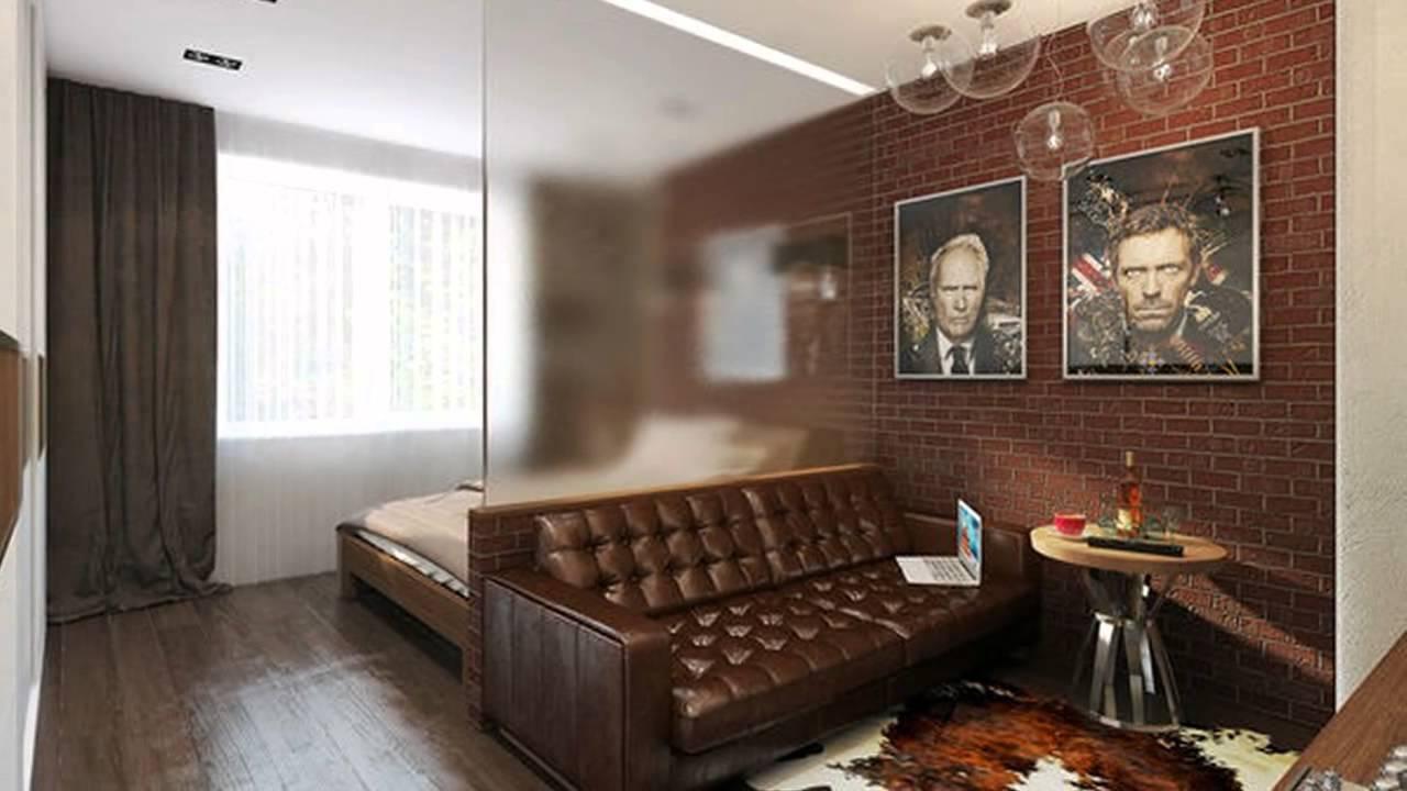Перед входом в комнату логично расположить гостиную так, чтобы спальня была скрыта от посторонних взглядов