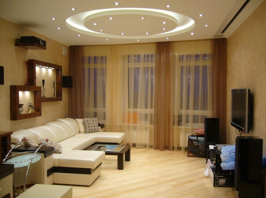 Дизайн интерьера гостиной в хрущевке в современном стиле