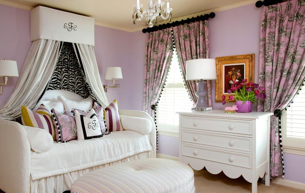 Замечательное оформление комнаты для девочки