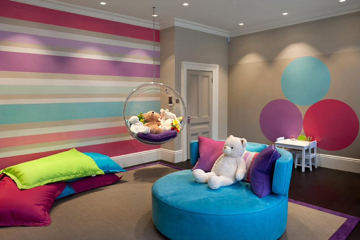 Дизайн спальни для девочки-подростка в стиле хай-тек