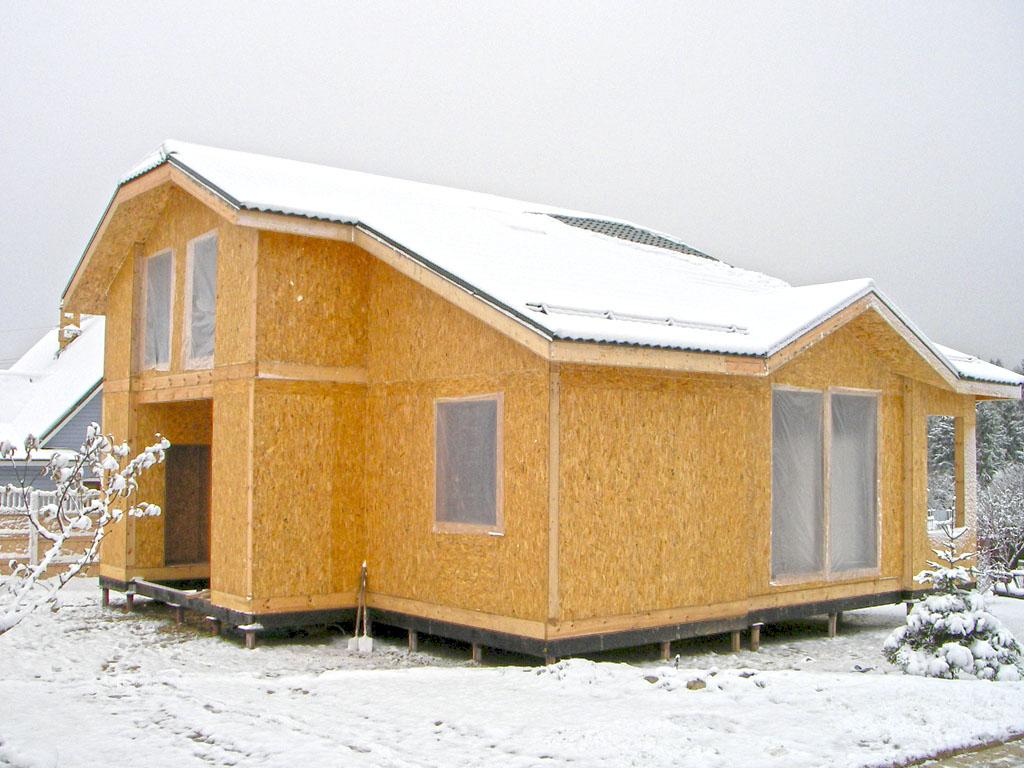 Дом, собранный из СИП панелей