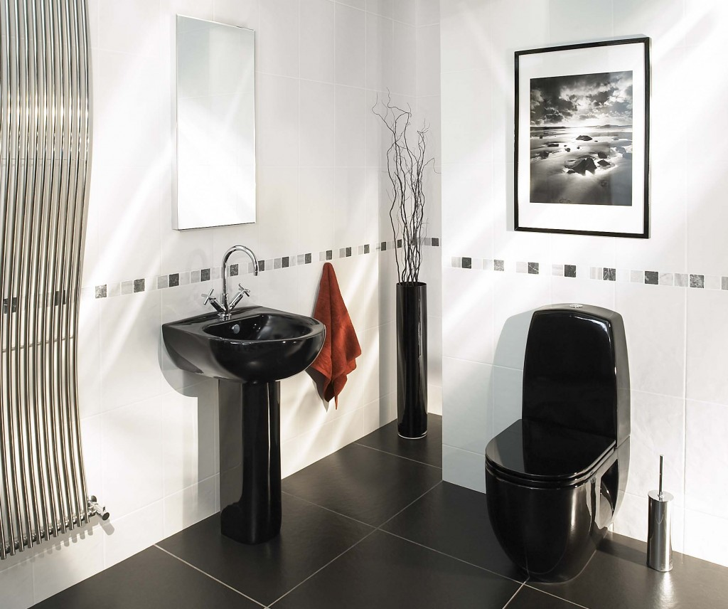 Простой и очаровательный дизайн небольшой ванной комнаты