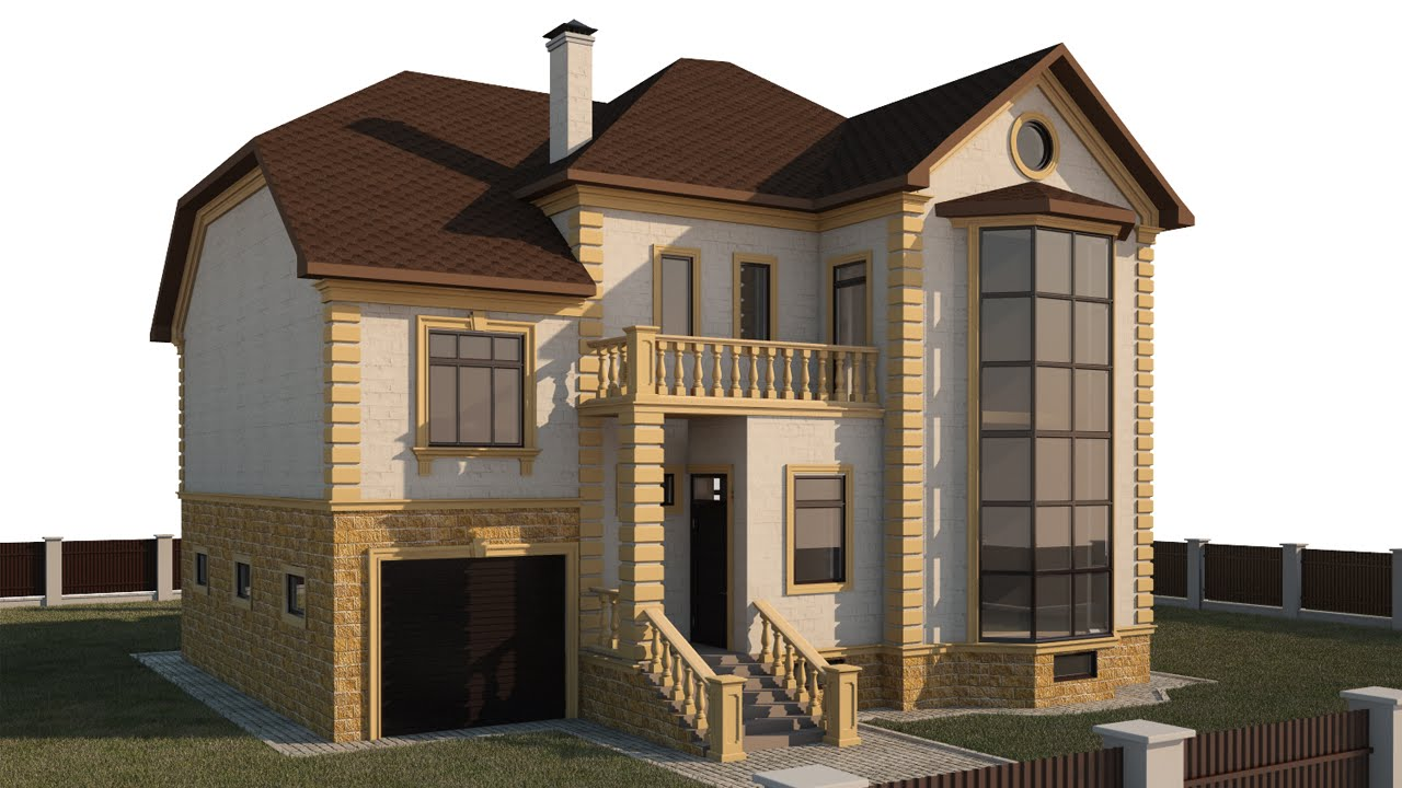 Декоративная отделка фасада частного дома