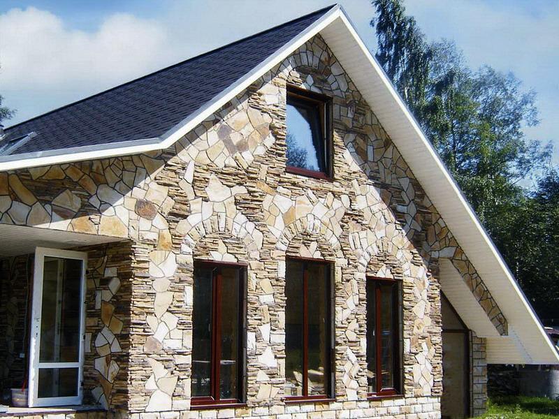 Стилистическое оформление фасада частного дома