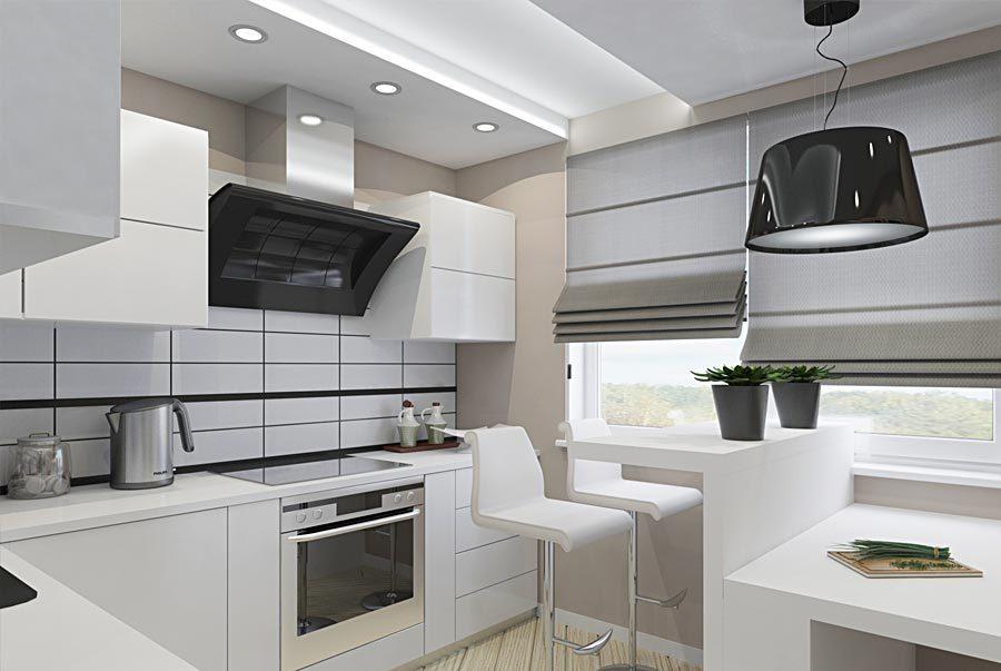 Дизайн маленькой кухни в стиле минимализм