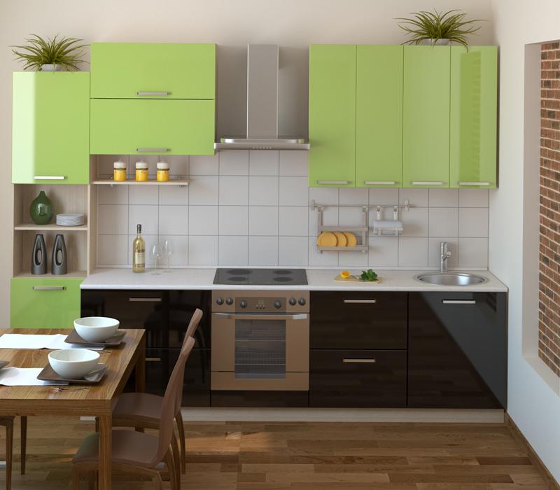 Дизайн маленькой кухни в стиле модерн