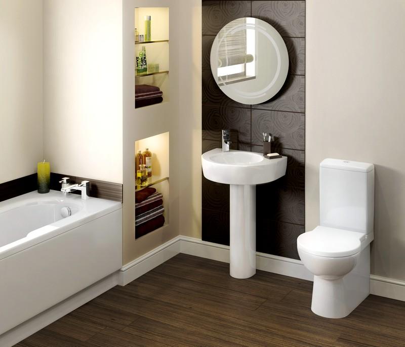 Ванная комната в лаконичном стиле