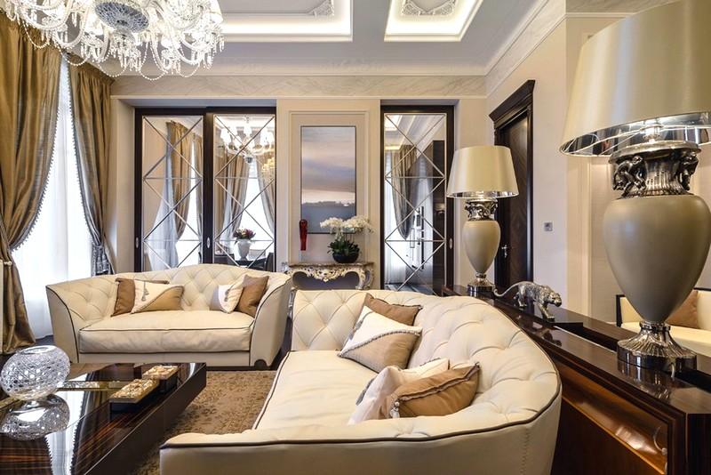 Вариант оформления квартиры в классическом стиле