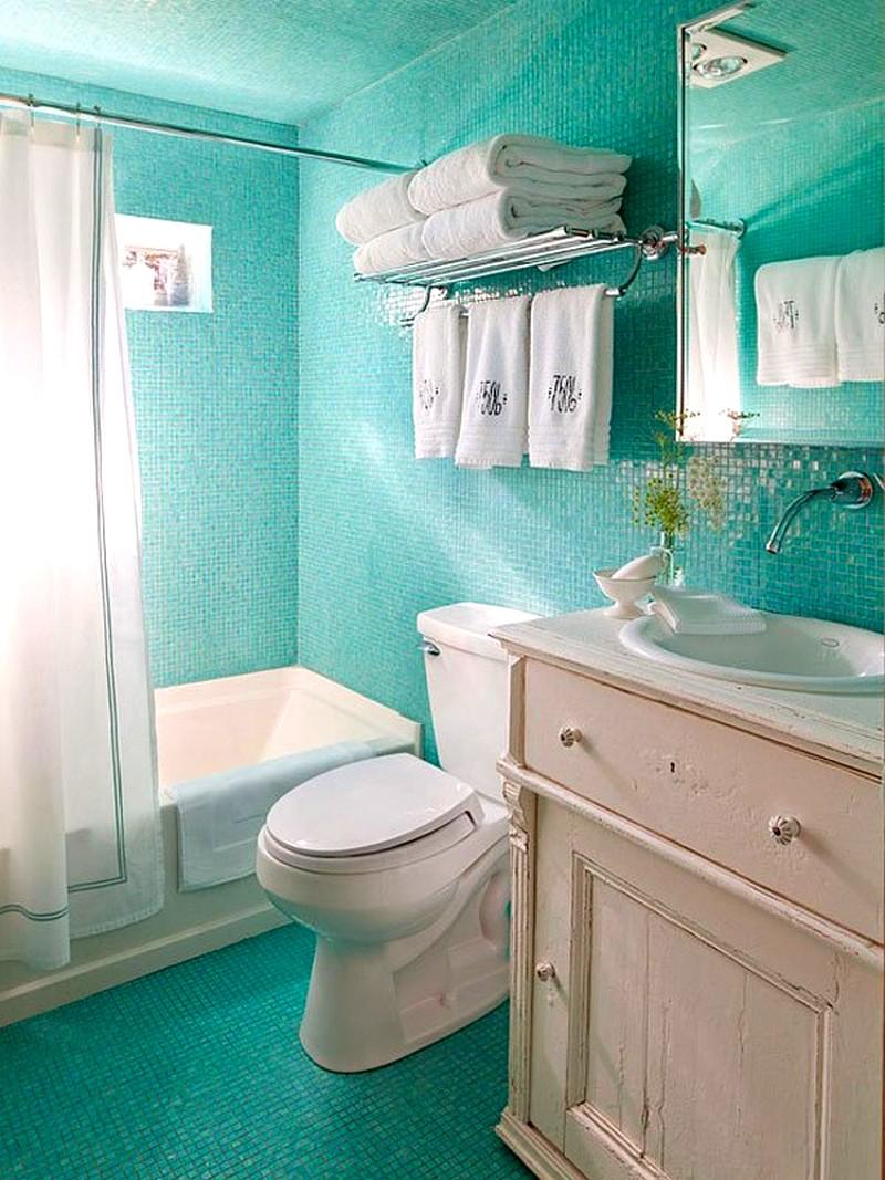 Дизайн ванной комнаты в зеленом цвете