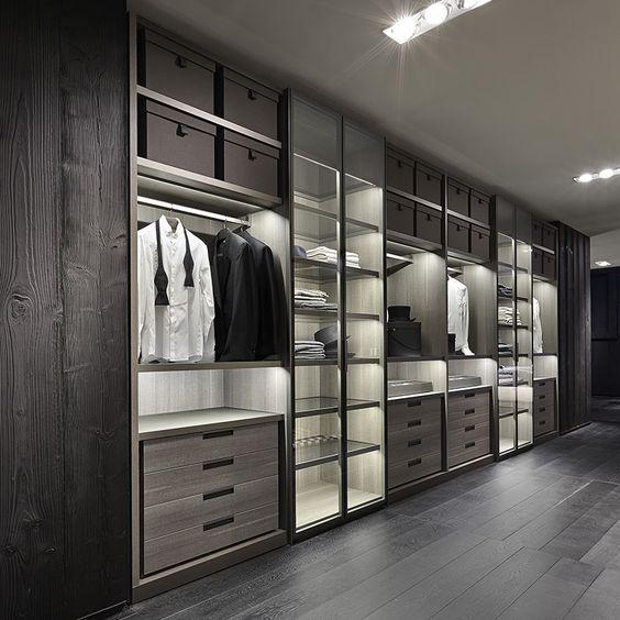 Дизайн интерьера гардеробной для делового мужчины