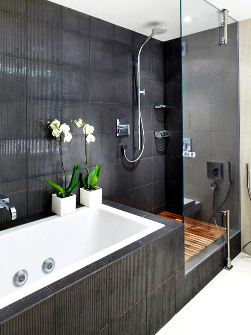 Идея дизайна небольшой ванной комнаты